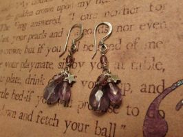Iolite and amethyst earrings by JLHilton