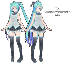 TDA Costume Arrangement A Miku DL by Xoriu