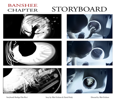 Banshee Chapter - Storyboard -sample Frames 1 by rdricci