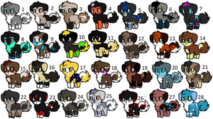 Leftover Pup Adopts- Closed by ThunderLordess