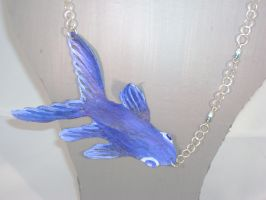 blue fish necklace by MadeByMin