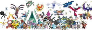 All Legendary Pokemon in PNG