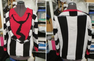 Beetlejuice Cosplay Sweater by NeitherSparky