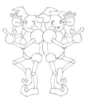 Mr. Mime male and female by Megaloceros-Urhirsch