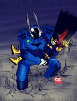 Divergence Batman and Batgirl by roelworks