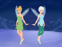 Tinkerbell and Periwinkle by Eolewyn1010