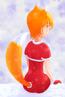 Winter kitsune-tan by loentar