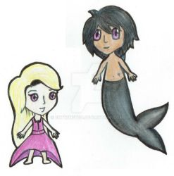 Emma And Galen chibi  - The Syrena Legacy by EntwineTSD