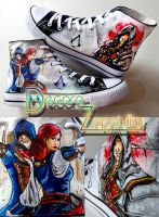 Assassins Creed Unity custom shoes handpainted by Raw-J