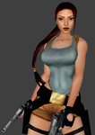 TR2 In-game Low Poly Lara Remake (WIP) by LitoPerezito