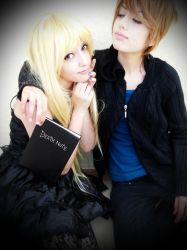 Misa and Light Test Shot 1 by DEATHNOTE---L