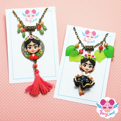 Frida Kahlo Necklaces by dragonfly-world