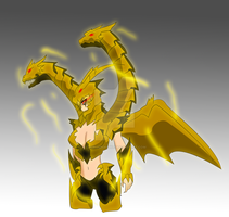 Keizer Ghidorah Kaiju Girl by TSURUGIKNIGHT