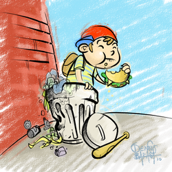 Ness found a Burger by NoBullet