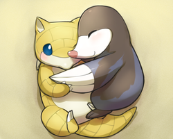 Sandshrew/Drilbur hugs