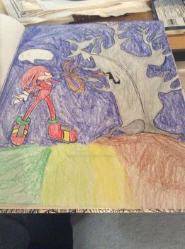 knuckles and ze twee by Miko-The-Fox