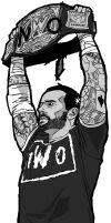 CM Punk nWo by MLewin