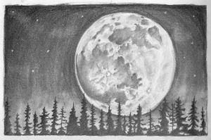 Moon SKetch by eldon14