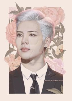Jackson with flowers by BlueBerry-is-cute