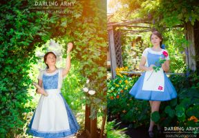 Belle Beauty and the Beast Cosplay Pinafores by DarlingArmy