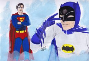 Tribute to Christopher Reeve and Adam West by Kaze-no-Okami
