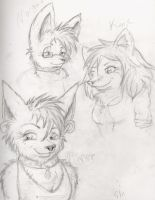 Character Idea Sketches by sporkyd00m