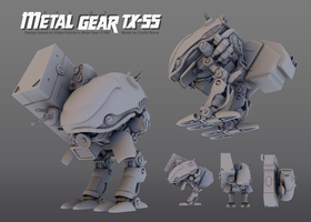 Metal Gear TX-55 by corfidbizna