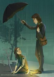 April showers and chivalry by Axxirah