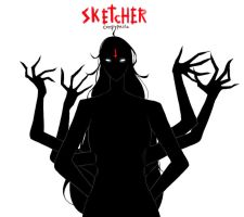 The possessed one [SKETCHER CREEPYPASTA] by Gravitown