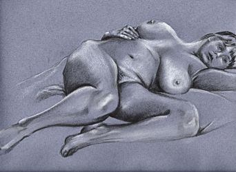 Reclining female nude 4 by scribbler