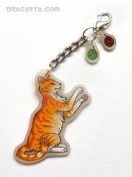Keychain with red tomcat by Dragarta