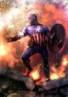 Captain America by weaselpa