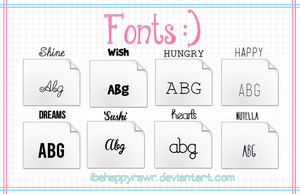 Fonts! by iBeHappyRawr