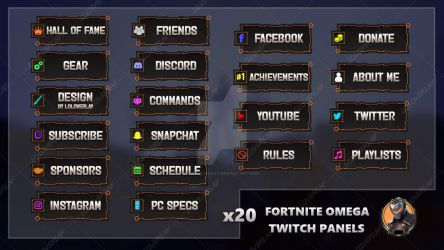 Fortnite Omega - Twitch Panels by LoL-Overlay