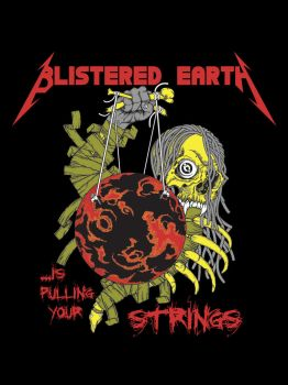 Blistered Earth T-Shirt 01 by Corvus6Designs