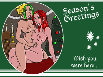 Commission - Holiday Greetings? by bloodyinkpen