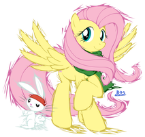 PonyKart - Fluttershy (flash drawn) by Blue-Paint-Sea
