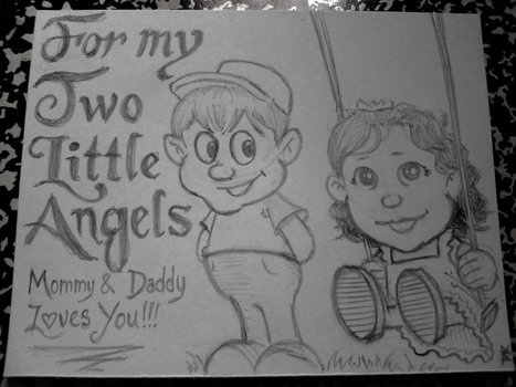 Two Little Angels by RyanKnightArt