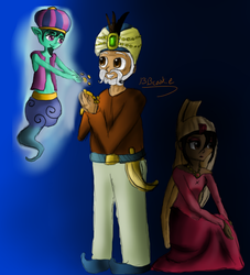 The Genie, the Sultan, and the Princess by 1313cookie