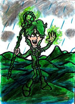 Shamrock in the Rain by SonicClone
