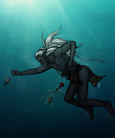 GORETOBER Day 6: Drowning by PollutedArt