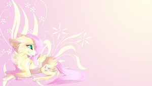 Fluttershy wolf wallpaper by AvareQ