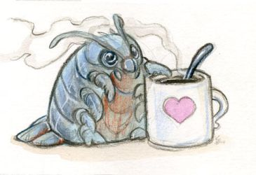 Giant Isopod Love Coffee by skulldog