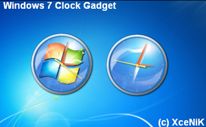 Windows 7 Clock Gadget by XceNiK