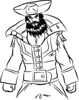 Mortimer's grandfather Blackbeard the Pirate by MortimerAglet