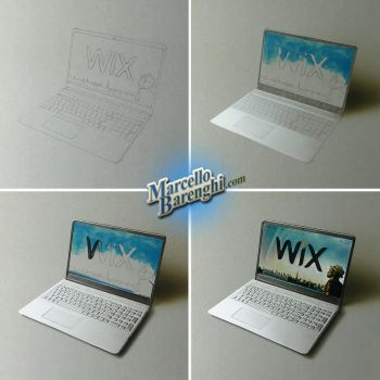 Laptop drawing for Wix by marcellobarenghi