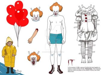 Pennywise paper doll by SariSariola