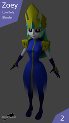 Blender Zoey by UndeadSentinel