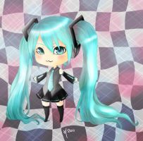 Miku - Colored lineart by HelloMayday