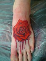 foot rose by theryancardinal